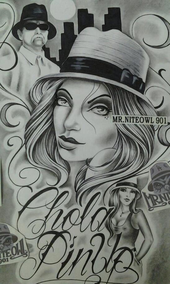 Gangster Chola Drawings Chola pinup