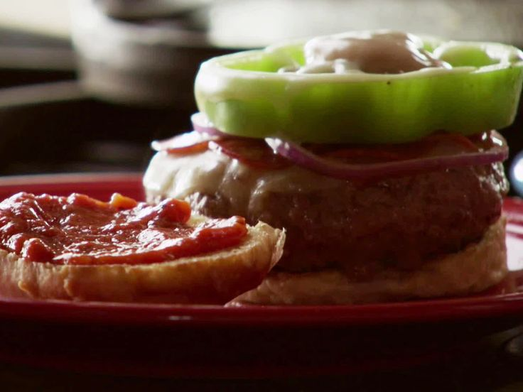 Supreme Pizza Burgers Recipe : Ree Drummond : Food Network ...