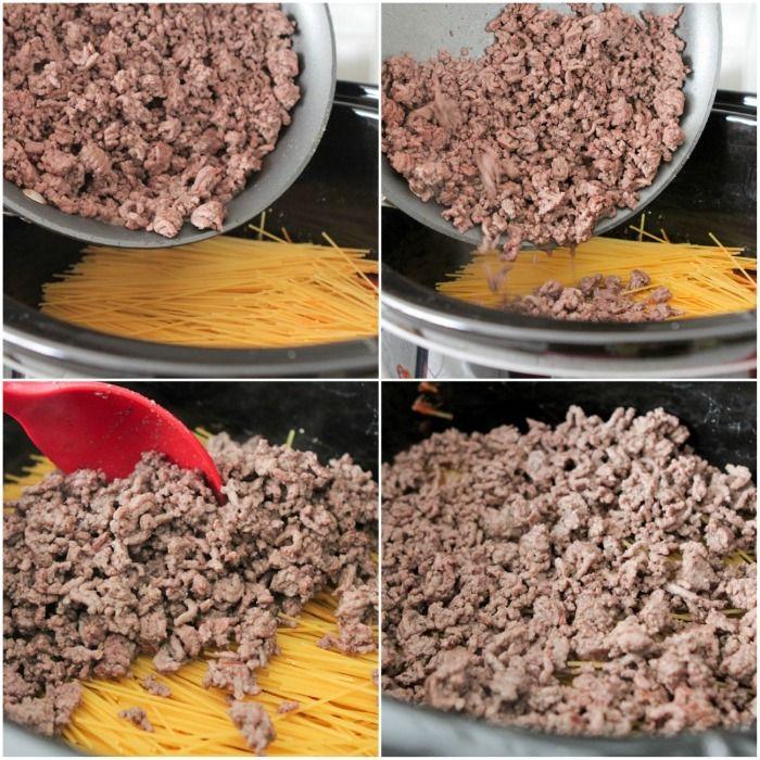 Creamy Crock Pot Spaghetti | Picky Palate