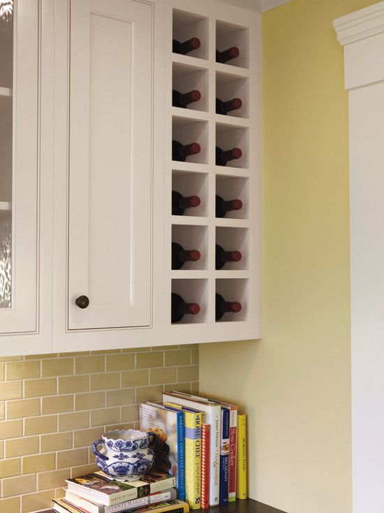 Built In Wine Rack! Just enough room without being overkill