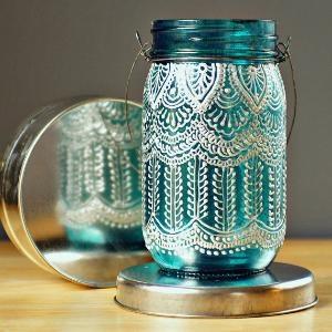 doily mason jars