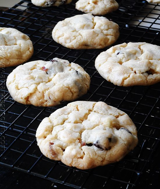 Cherry White Chocolate Chip Cookies from AmandasCookin.com @ ...