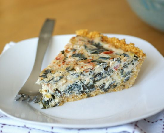millet crust - vegan spinach and veggie quiche - and yes I know that ...