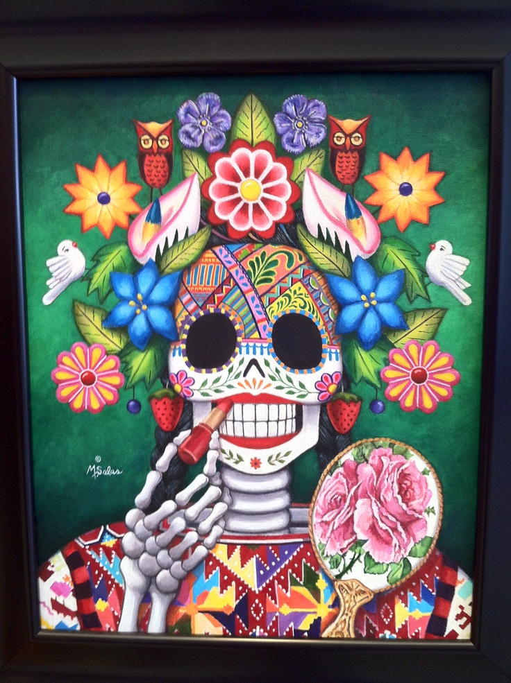 BEAUTIFUL! Day of the Dead artwork by New Mexican Artist. Broadway Cultural Center
