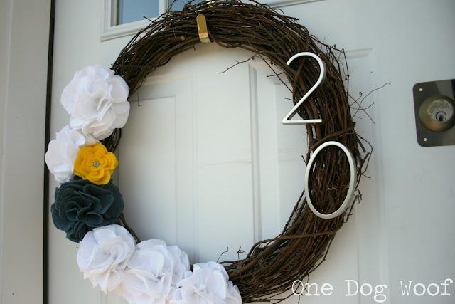 House Number Door Wreath for Spring!