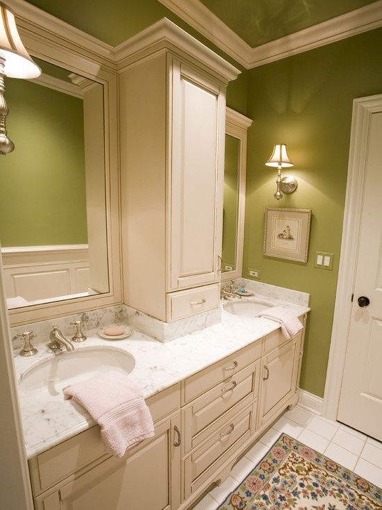 Cabinet on the counter master bath remodel ideas pinterest for Master bathroom cabinet designs