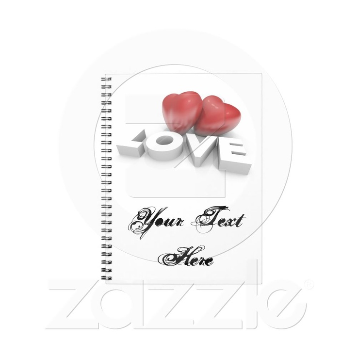 Notebook with Love from Zazzle.com