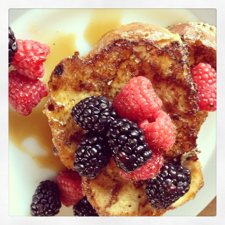 Almond Challah French Toast w/Berries | The Diner of Cville. | Pinter ...