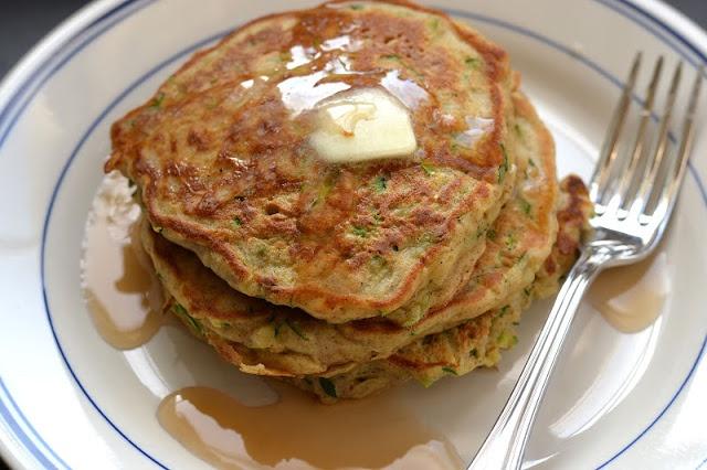 Zucchini Bread Pancakes | Type A Kitchen | Pinterest