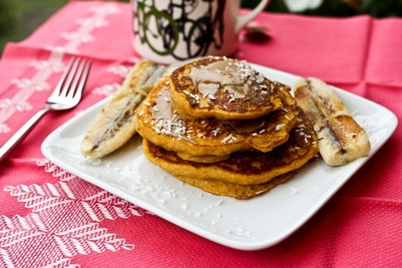Pumpkin Pancakes Sandwiches With Chocolate Filling Recipe — Dishmaps