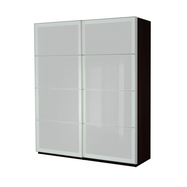 ikea pax wardrobe with sliding doors harbours edge. Black Bedroom Furniture Sets. Home Design Ideas