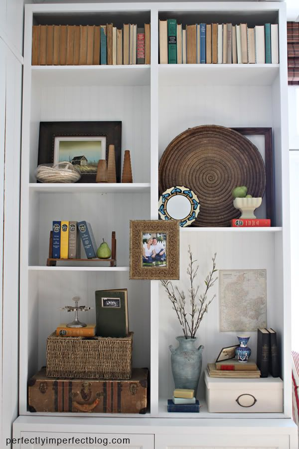 Bookcase Decorating Perfectly Imperfect Home Decor