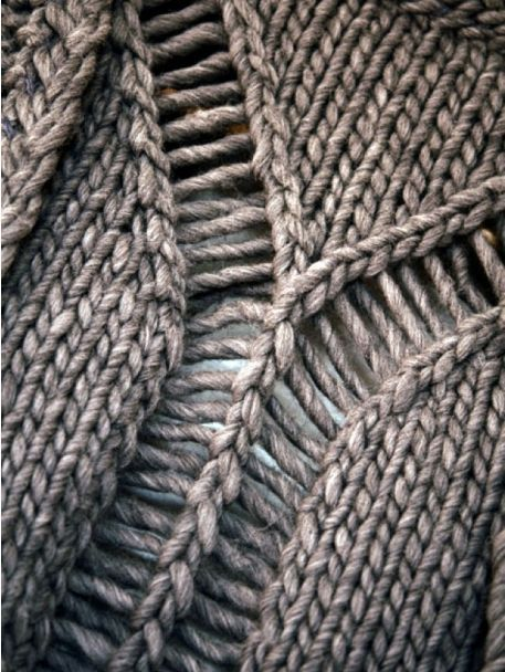 Knitting Dropped Stitch Help : dropped stitches -- love this!!. knitting Pinterest