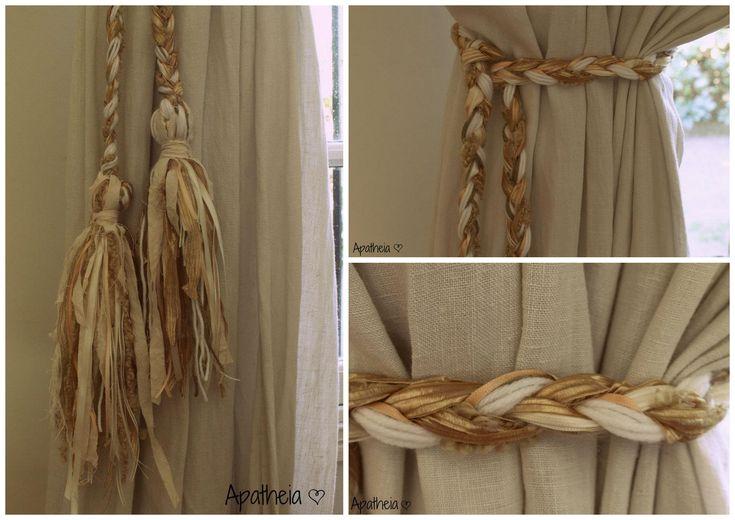 Agarraderas para cortinas accesorios pinterest for Accesorios para colgar cortinas