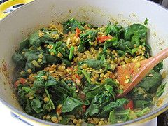 Palak Daal (Spinach and Lentil Curry) | (Overflowing) Recipe Box ...