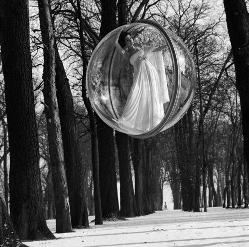 'In Trees' - photo by Melvin Sokolsky, Paris, 1963.