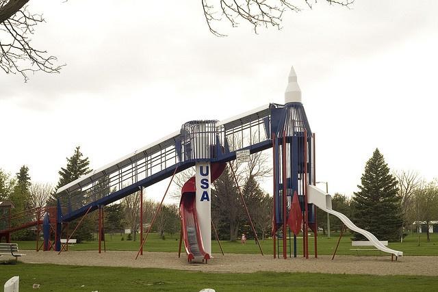 Rocket Slide Park Reid Park Rocket Slide