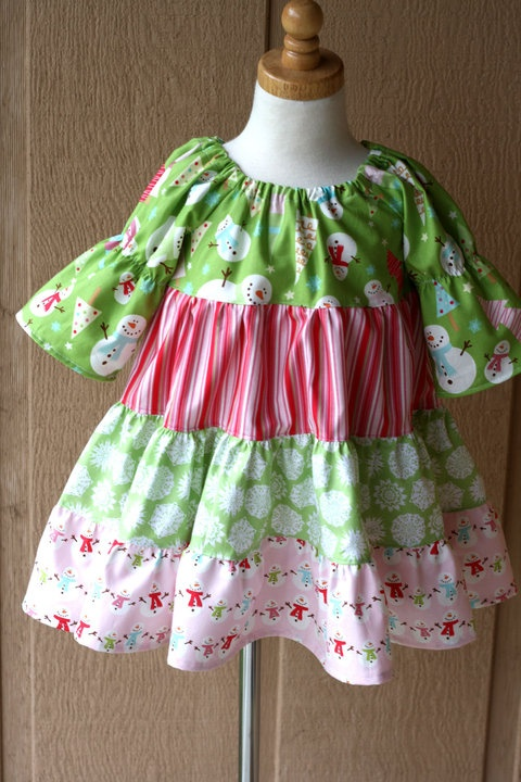 Loved this christmas twirl dress by kristi at blu moon design from