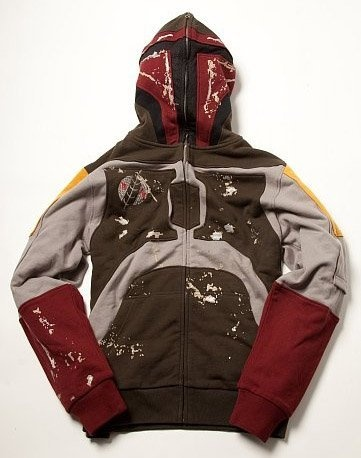 Star Wars Boba Fett for Real Mens Costume Fullzip Hoodie with Face