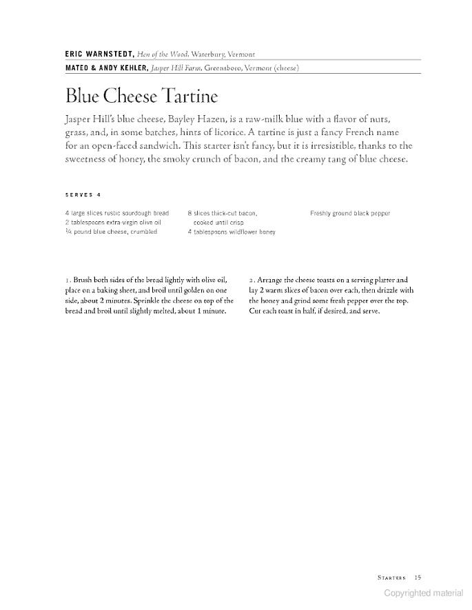 Blue cheese Tartine | Recipes | Pinterest