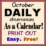 October Holidays 2013 (Official) Monthly, Weekly, Daily, Crazy, Silly ...