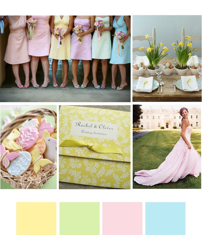 Inspiration for weddings and interiors: Easter wedding inspirations