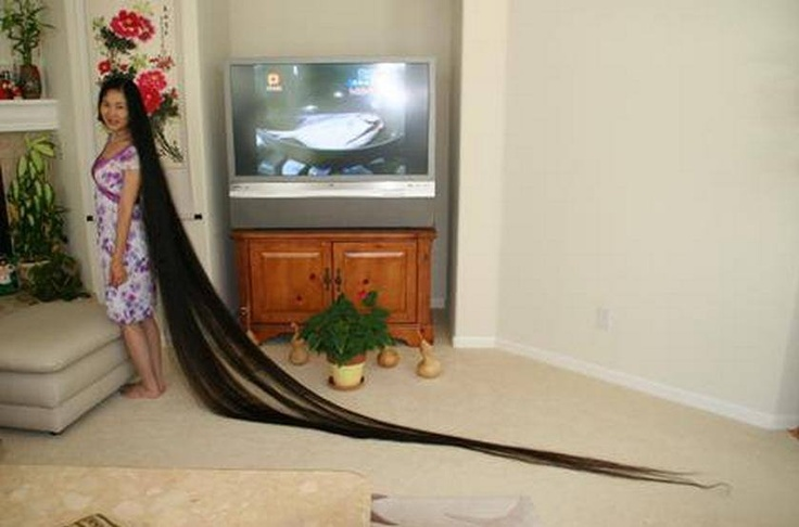 Xie Qiuping Of China currently holds the title of World s Longest hair    Xie Qiuping