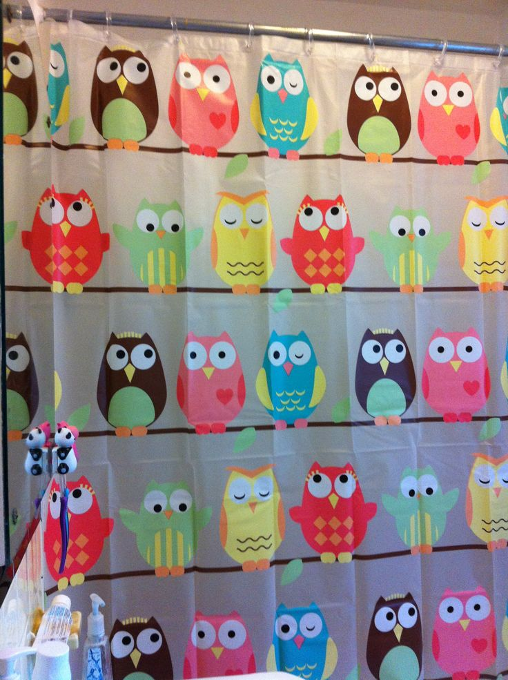 owl shower curtain owls they are just so darned cute