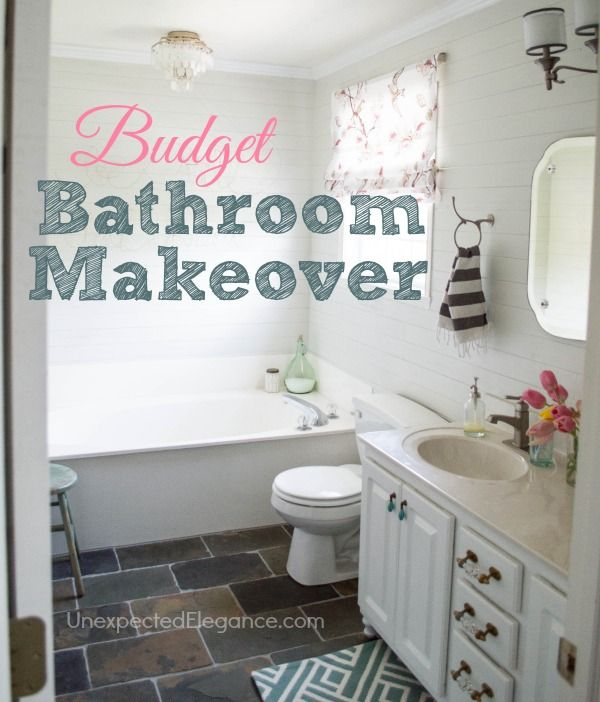 ... bathroom without spending a fortune! Lots of DIY projects on a budget