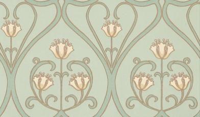Wallpaper art nouveau pinterest for Art nouveau wallpaper uk