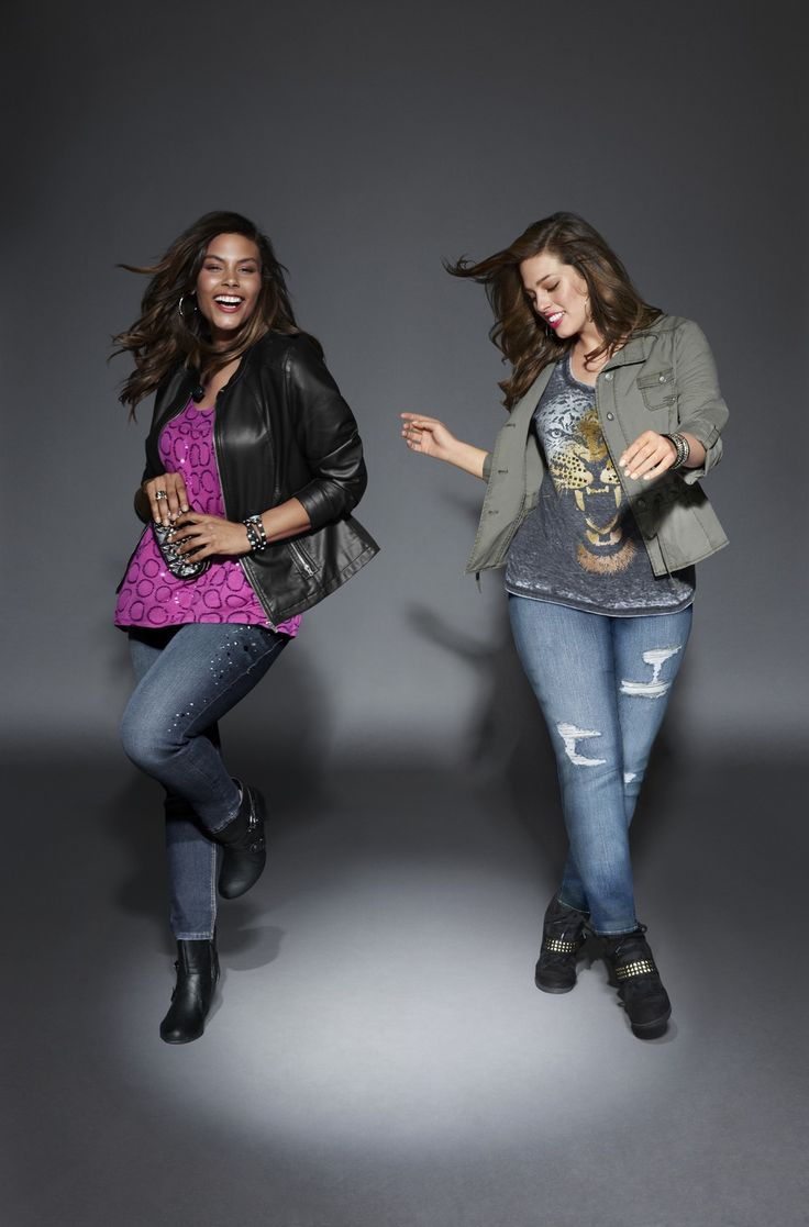 Embellished Ankle Jean and Genius Fit Distressed Skinny Jean: the hottest silhouettes of the season. #LaneBryant