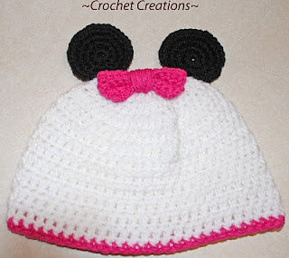 Minnie Mouse Crochet Baby Hat Pattern : free minnie mouse hat pattern baby crochet Pinterest