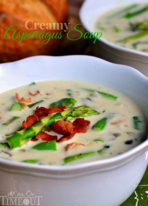 Creamy Asparagus Soup is so delicious and is just bursting with fresh ...