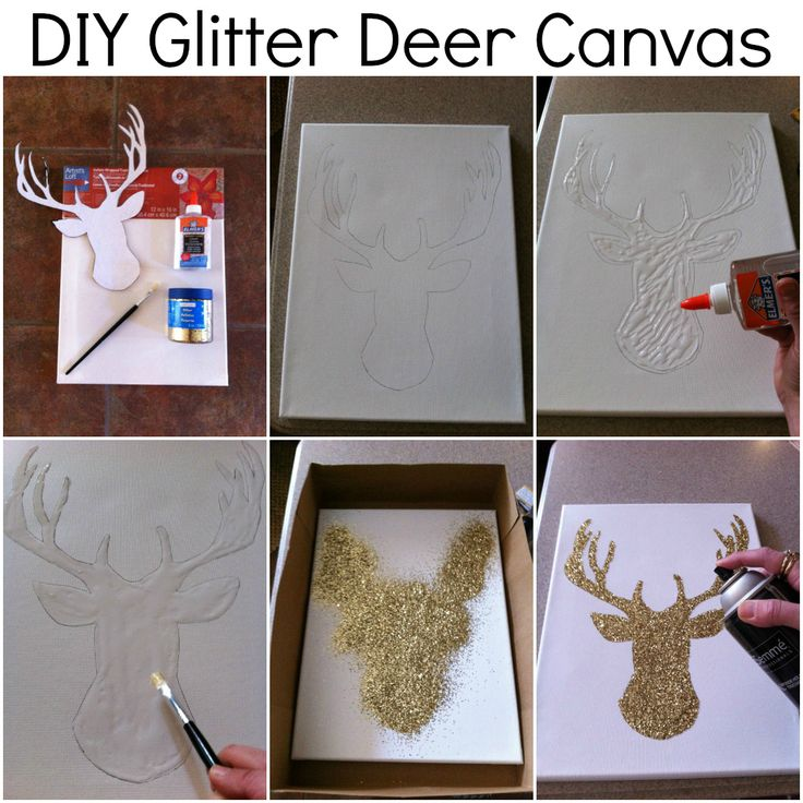 DIY Glitter Canvas Crafts And DIY Pinterest