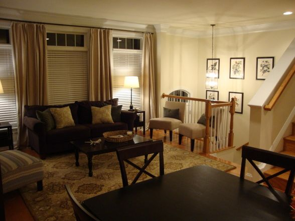 townhouse living room decorating ideas
