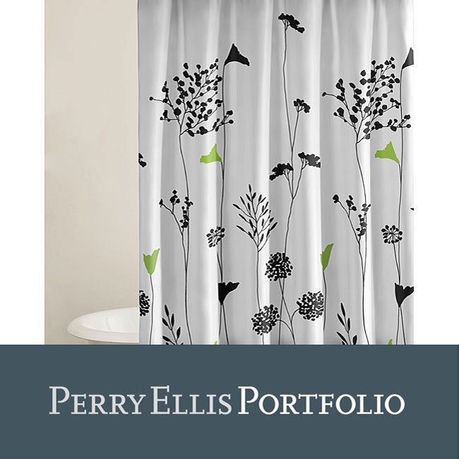 keeping water off the floor with this cotton Asian shower curtain ...
