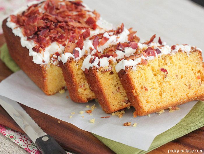 Pancakes and Bacon Cake Slices with Maple Buttercream