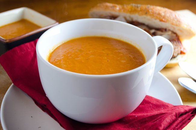 ... soup to serve with your favorite sandwich? This creamy tomato soup