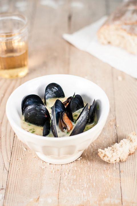 Steamed Mussels with Saffron Sauce | Awesome Food | Pinterest