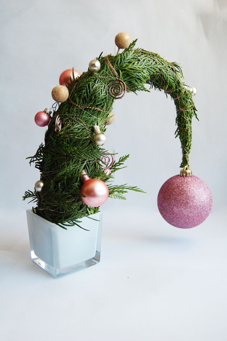 Whoville - Droopy tree with large ornament bending