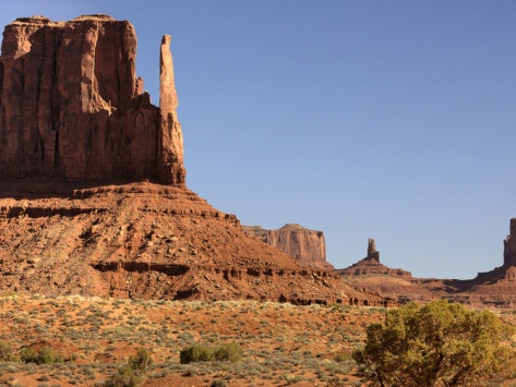 The More Famous Formation of 'Mitten' Monoliths in Monument Valley