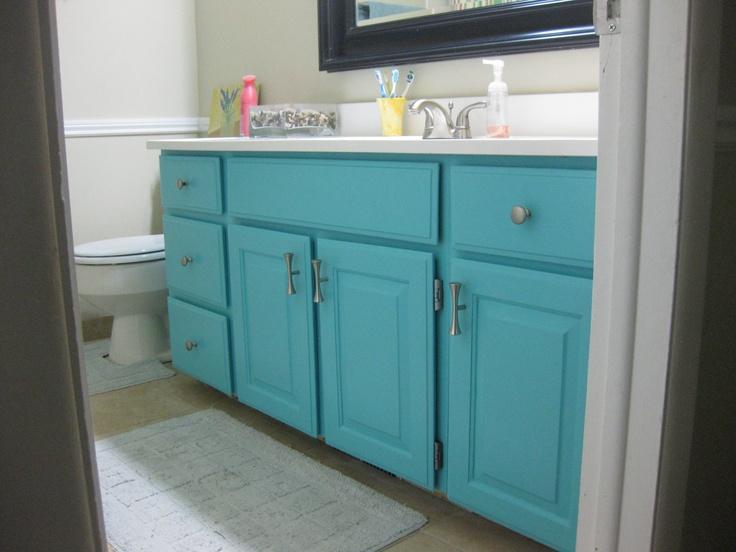turquoise bathroom vanity house decorating