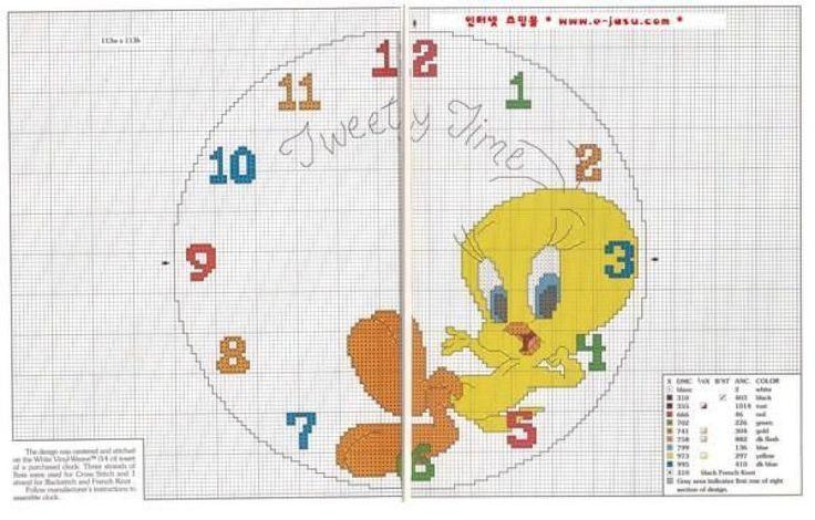 Вышивка крестом схема циферблат 10