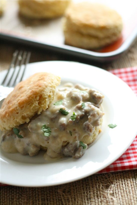 Southern-Style Biscuits with Sweet Sausage Gravy. SO excited to make ...
