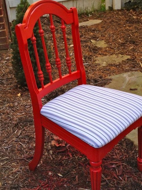 chair reupholstery tutorial DIY