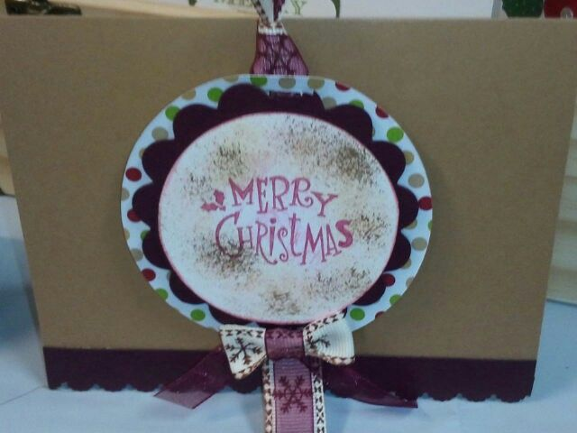 Stampin Up Merry Christmas Card