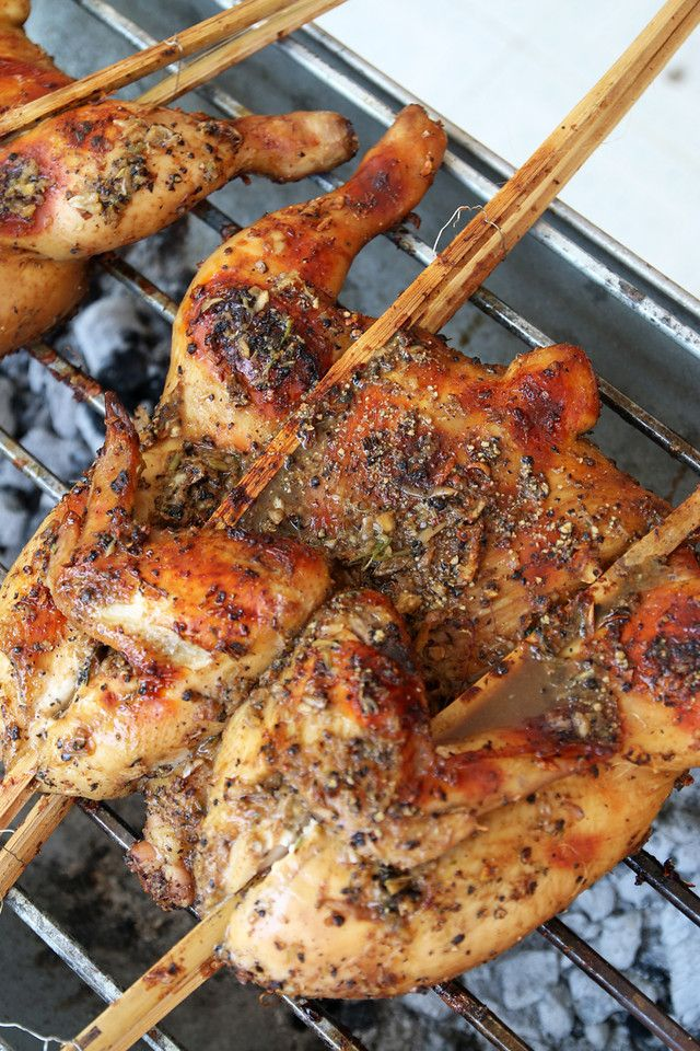 chicken grilling X2 Authentic Thai Grilled Chicken Recipe (Gai Yang ...