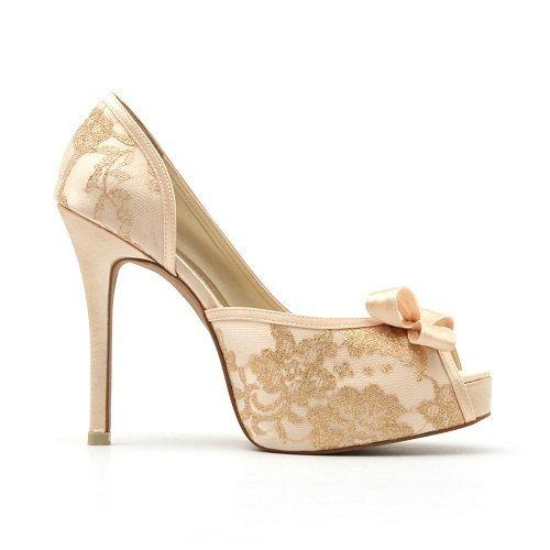 Champagne Lace Wedding Shoe