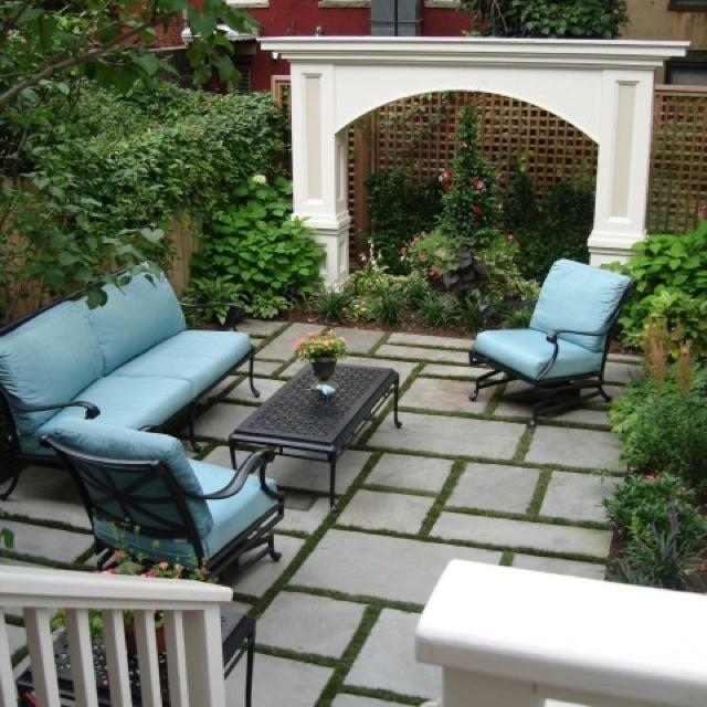 Patio Designs Pavers Grass : Pavers with grass back patio ideas