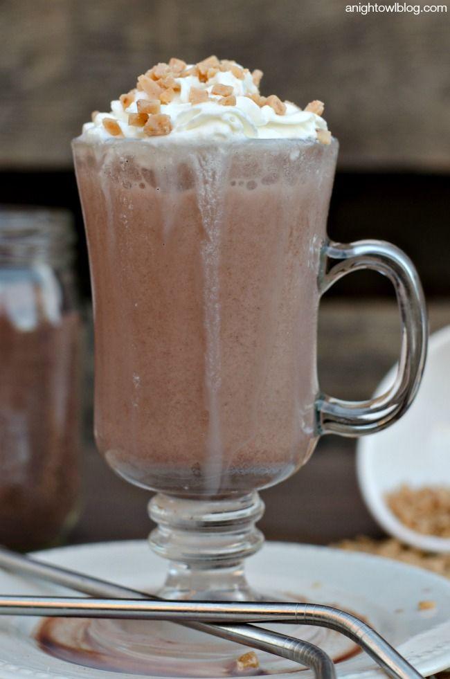 Salted Caramel Blended Ice Milk Recipe — Dishmaps